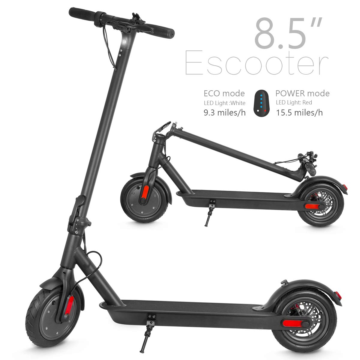XPRIT 8.5'' Electric Kick Scooter w/Two Speeds, Long Lasting Battery, Solid Tire, Up to 15 Miles by XPRIT
