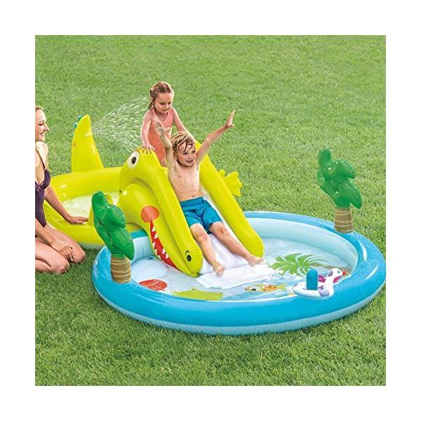 Intex–Centro di gioco acquatico con scivolo–2Piscina, 180/132L, 57164) 2 spesavip