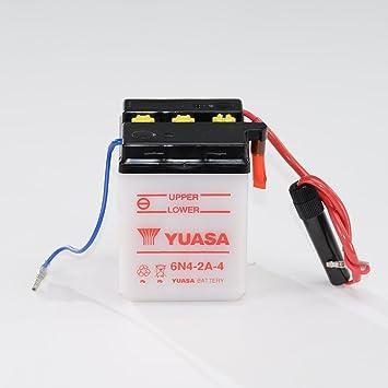 Batería 6 V 4 Ah 6 N4 – 2 A de 4, húmedo Yuasa DIN