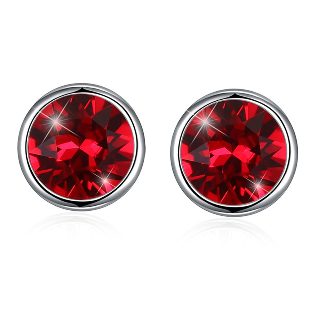 Ear Piercing Earrings Studs Created with Swarovski Crystals Pink Manufac ER13-9