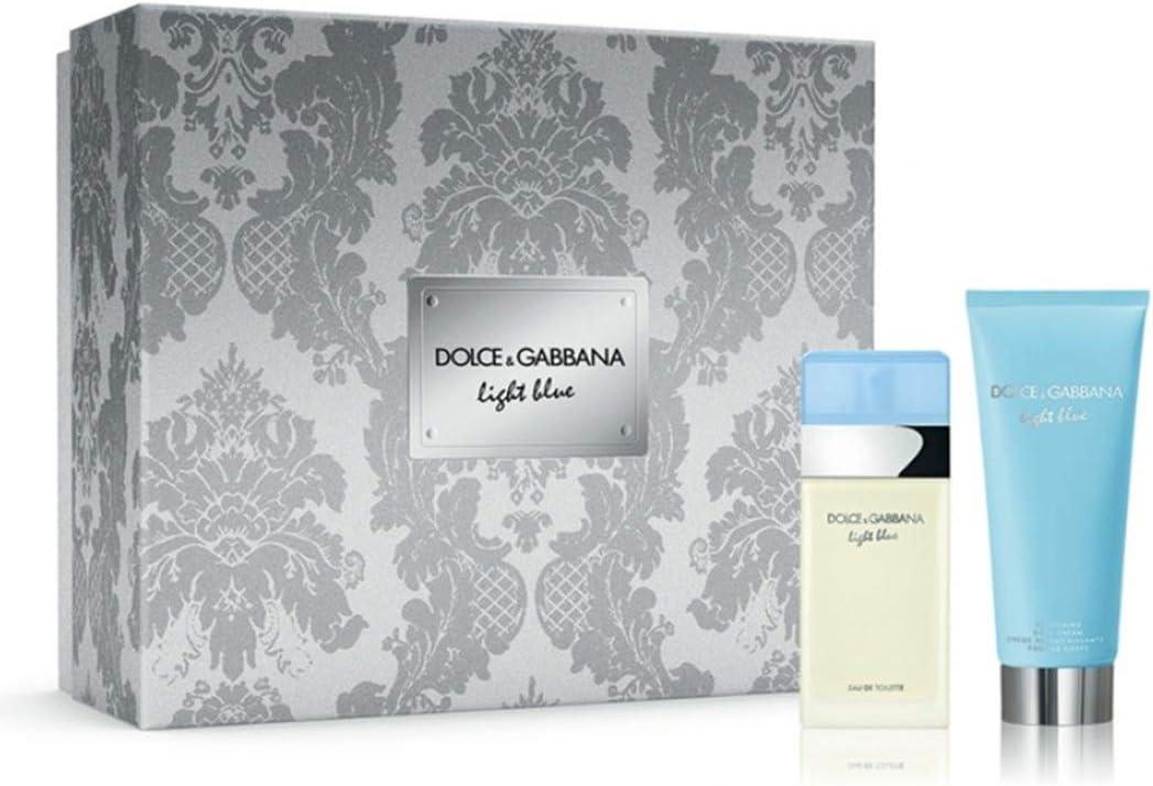 Estuche D&G Light Blue para mujer, perfume EDT 25 ml + Body Lotion 50 ml Giosal: Amazon.es: Belleza