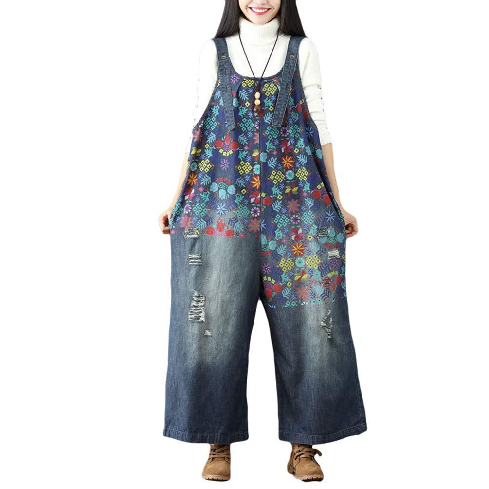 4af18bb7e6a9 Yuandian Mujer Monos Tejanos Petos De Pantalon Denim Vaquero Casual ...