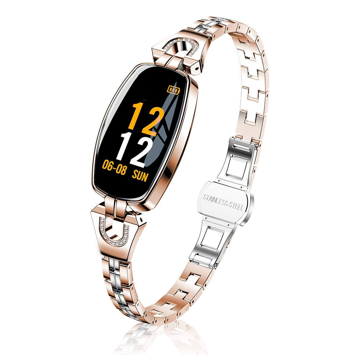 TMYIOYC Activity Tracker, Fitness Tracker with Pedometer, Heart Rate Monitor, Calorie Counter, Anti-Lost, Fitness Bracelet Waterproof Smart Fitness Band for Female and Sports Lovers