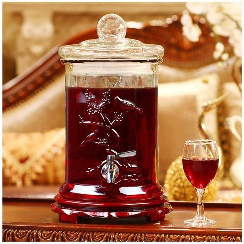 LJJOO Autoservicio de Bebidas Máquina - Dispensador de Bebidas - for la Limonada/té/Agua fría (con Altura de Asiento de Madera: Madera 36.5cm Ancho del Asiento: 20,5 cm) (Color : Style A)