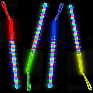 German Trendseller® - 6 x LED Arcoiris - Luz - Palo - Mezcla ...