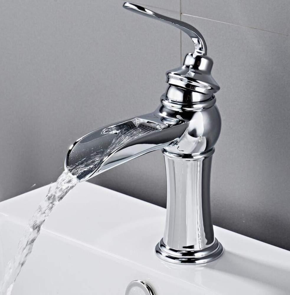 Bathroom Faucet Bathroom Basin Faucet Chrome Brass Vanity Vessel Sinks Washbasin Cold Hot Water Mixer Tap Waterfall Deck Mount Single Handle