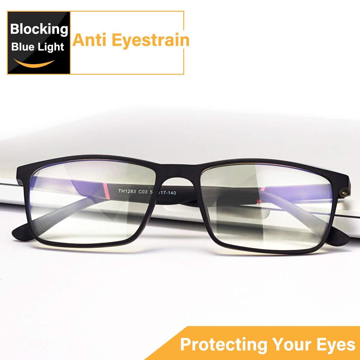 Blue Light Blocking Glasses,Computer Glasses,JACNITAD Anti Glare, Relieve Eyes Fatigue, Blocking Headaches, Premium Gamer & Computer & Reading Eye-wear, Anti Blue Light Lenses for Men & Women