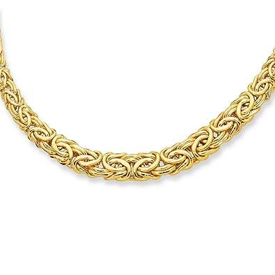 090cfbe0a6b67 Amazon.com: 14k Yellow Gold 6.0-11.0mm Graduated Byzantine Fancy ...