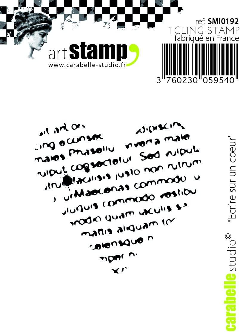 White//Transparent Carabelle Studio A7 Cling Stamp-Background Writing