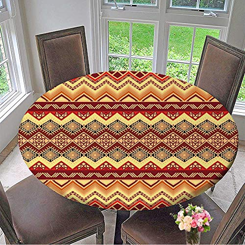 Cheap  Mikihome Round Tablecloth Hand Drawn Seamless Pattern in Boho Style Abstract Wallpaper..