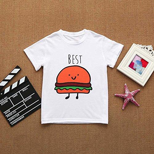 9f81d67ea225f Tovadoo 子供服 ベビー服 男の子 女の子 トップス tシャツ 春夏 ハンバーガー柄 ポテト柄 可愛い