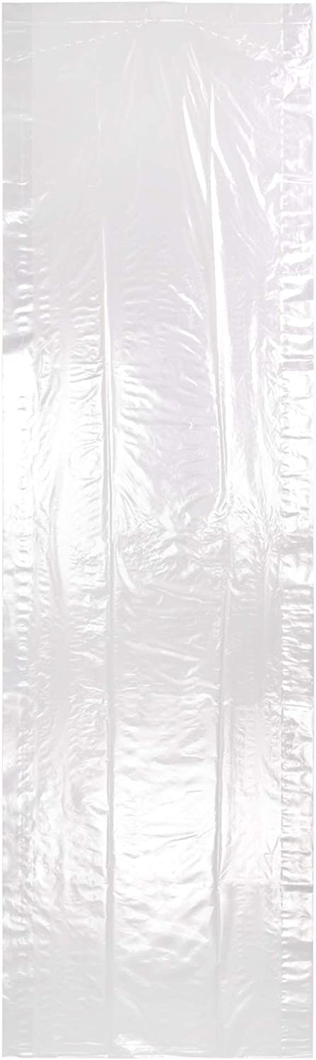 HANGERWORLD 12 Clear 72inch Dry Cleaning Laundry Polythylene Garment Clothes Cover Protector Bags 100 Gauge