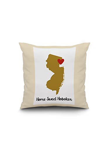 Home Sweet Hoboken, New Jersey - State Outline and Heart (Gold and ...