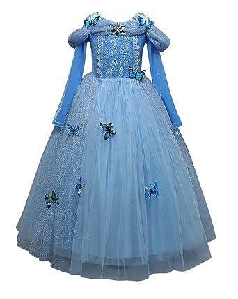 Girlu0027s Disney Princess Fairy Tale Cinderella Costume Blue 110cm  sc 1 st  Amazon UK & Girlu0027s Disney Princess Fairy Tale Cinderella Costume: Amazon.co.uk ...