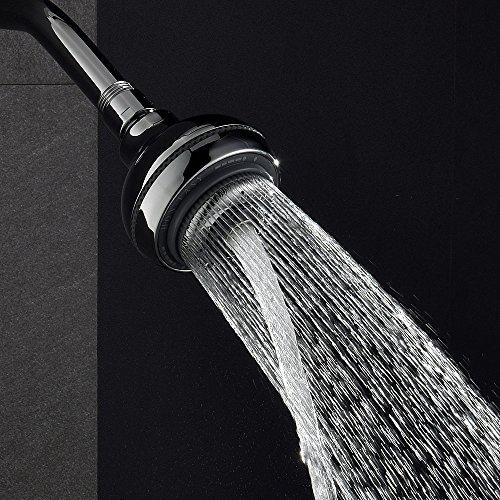 Ufaucet Best High Pressure 3.5 Inch Multi Functions Lavatory Bathroom Rainfall Shower Head, Chrome Finished 5 Settings Rain Head Shower Head 30%OFF