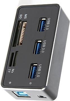 Vicloon Hub USB 3.0 Puertos 7 Multifunción Lector de Tarjetas de ...