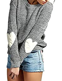 Ladies's Christmas Sweaters, Knit Oversized Long Sleeve Sweater Cute Crewneck Winter Warm Loose Sweaters For Women