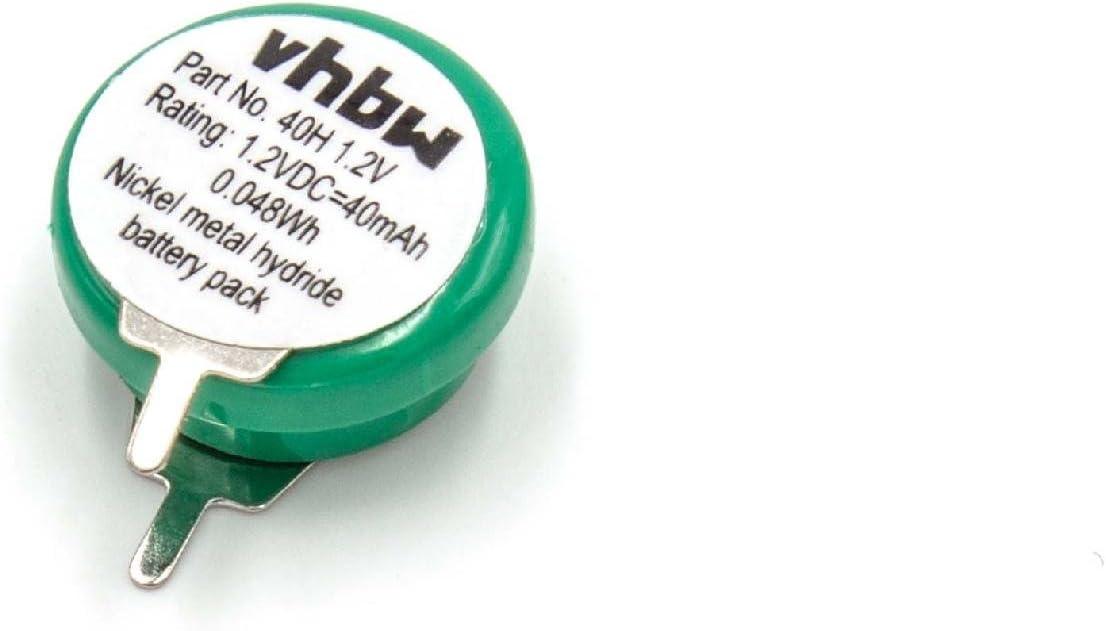 Vhbw Knopfzellen Akku Typ V40h Nimh 40mah 1 2v 1 Zelle 2 Pins Printanschluss Wiederaufladbar Spielzeug