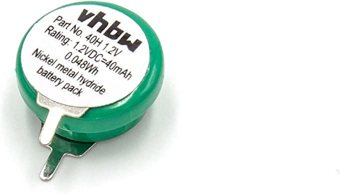Vhbw Button Cell Battery Type V40h Nimh 40 Mah 1 2 V 1 Cell 2 Pin Print Connection Rechargeable Spielzeug
