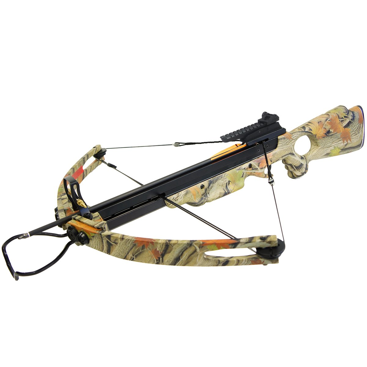 150 lb Autumn Camouflage Camo Hunting Compound Crossbow Archery Bow +Rail Lube +8 Bolts / Arrows 180 175 80 50