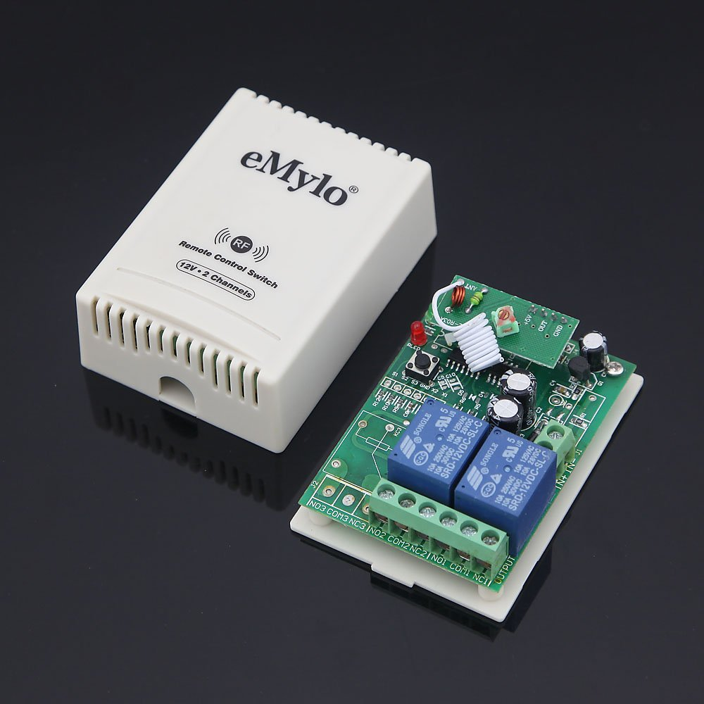 Emylo Dc 12v 2 Channels Rf Wireless Relay Remote Audio Receiver 433 Mhz Module Using Circuit Diagram Nonstop Free In Electronics