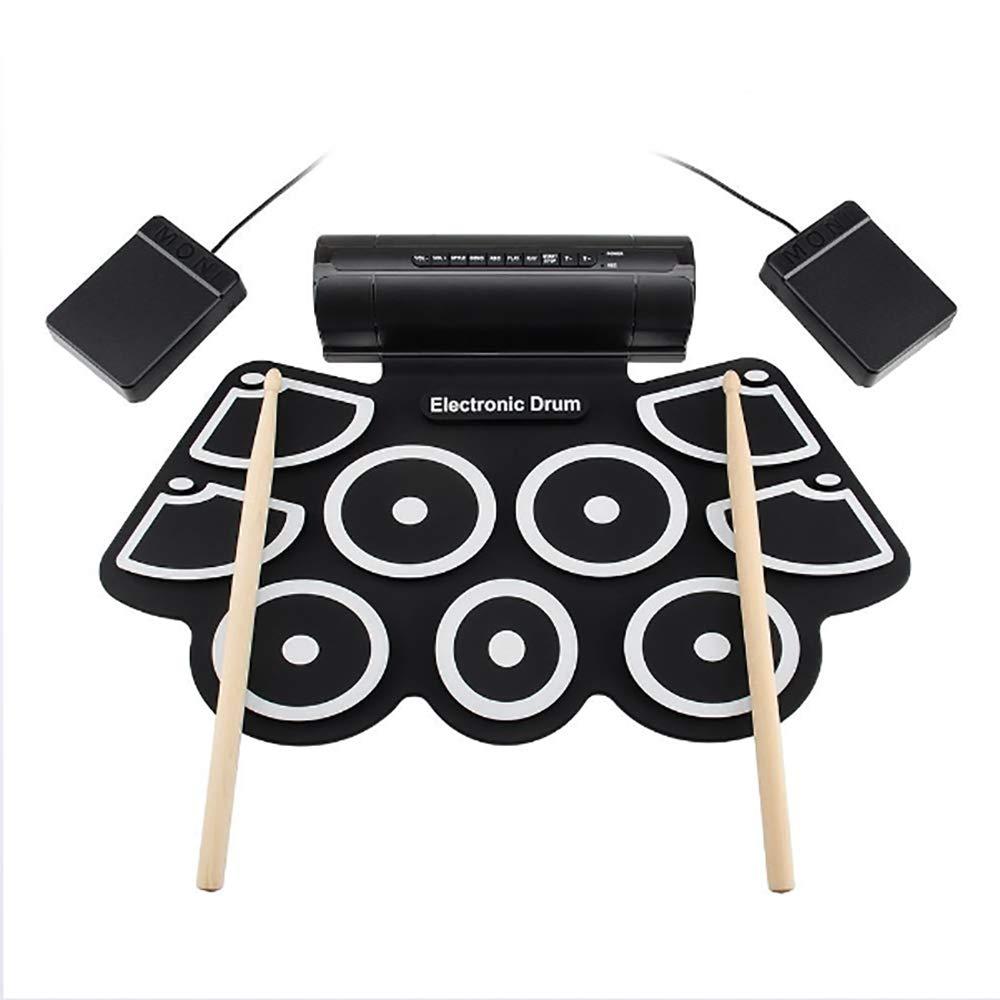 Portable MD760 Roll up Electronic Midi Drum Set Kit 9 pastiglie Altoparlanti incorporati Pedali Bacchette Cavo USB per la Pratica HUIJIN1 Drum Set elettronico