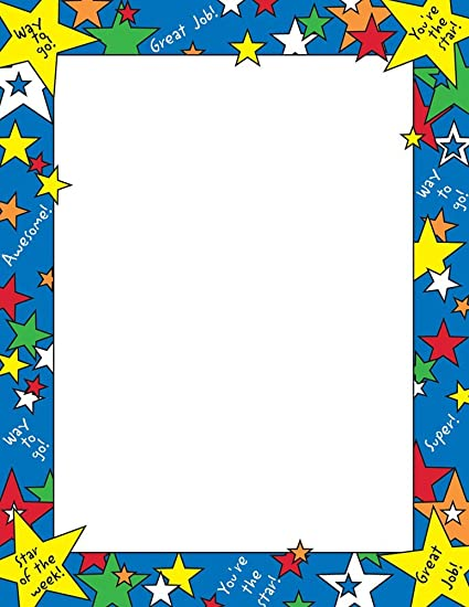 Great Papers! Star of The Week Letterhead, 80 Count, 8 5