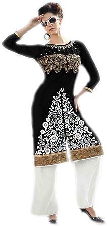 Jayayamala Black Designer Tunic Cotton Blouse Top