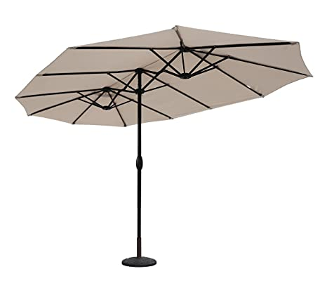 Sekey® Aluminio Sombrilla Parasol de Doble Juego para terraza jardín Playa Piscina Patio diámetro 460