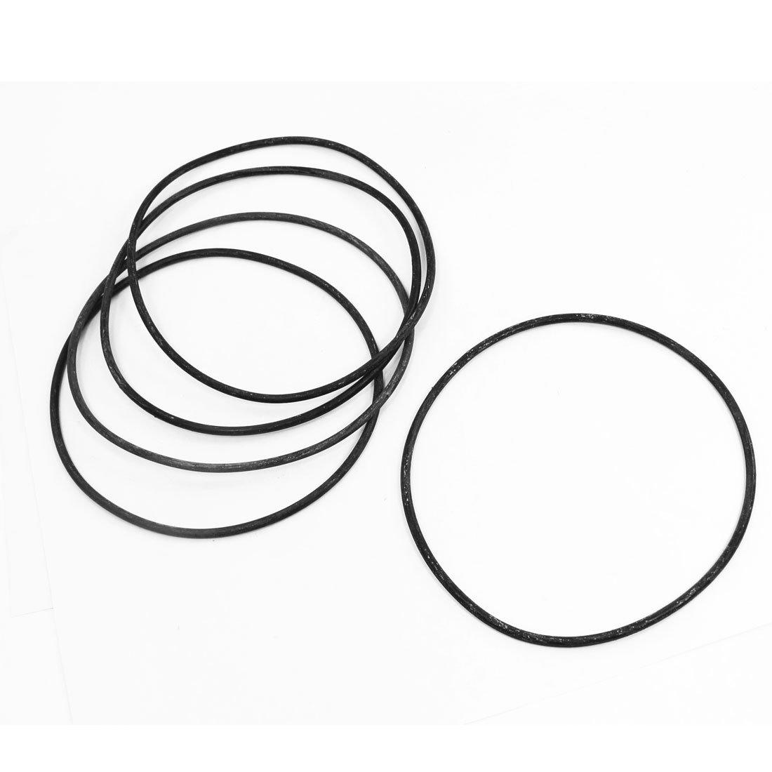 5pcs gomma flessibile O Ring Guarnizione Rondella di ricambio nero 150 mm x 4 mm Sourcingmap a14022100ux0234