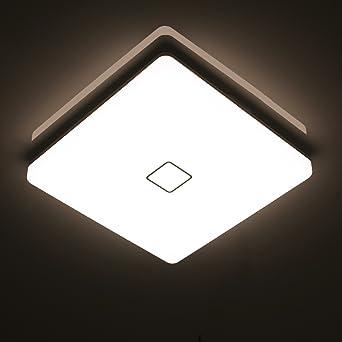 Öuesen 24W Wasserdichte LED-Lampe Decke Moderne dünne quadratische ...