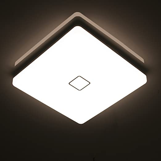 Uesen 24w waterproof led ceiling lamp modern square thin led uesen 24w waterproof led ceiling lamp modern square thin led ceiling lights 2050lm natural white 4000k aloadofball Image collections