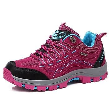 Paare Outdoor Sport Schuhe Sneakers Männlich schnüren sich oben Wandern Stiefel niedrige Aufstieg Verschleißfeste rutschfeste Trekking Klettern Camping Bergsteigen Schuhe weiblich , purple , 38