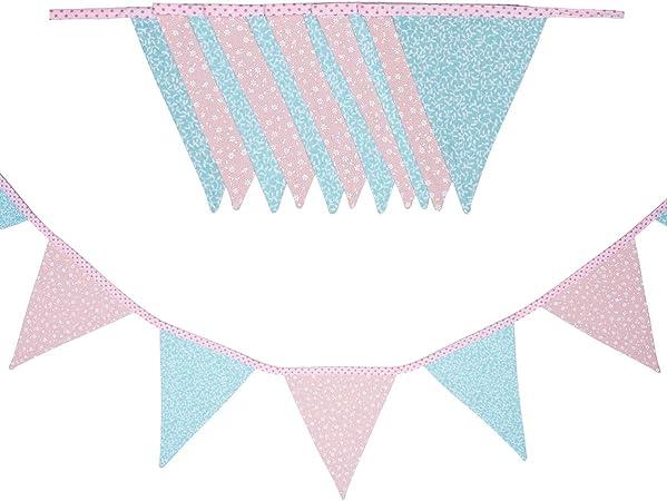 cozydots Guirnalda de banderines de Doble Cara Guirnalda de Tela, guirnaldas Coloridas para Decorar la habitación de los niños, decoración de Fiestas (spring, 235): Amazon.es: Hogar