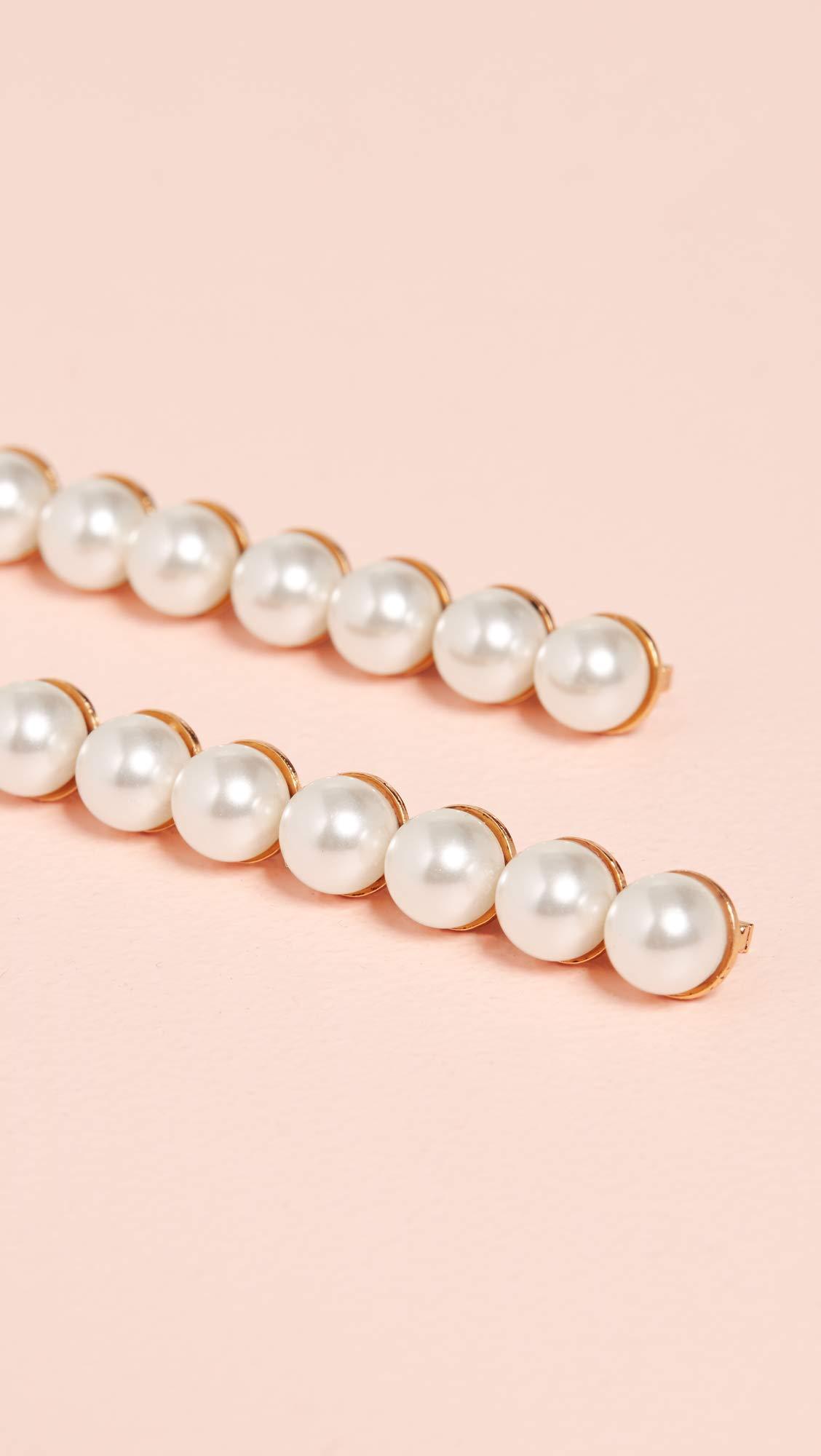 Jennifer Behr Women's Gracie Bobby Pin Set, Pearl, Off White, Gold, One Size by Jennifer Behr (Image #4)