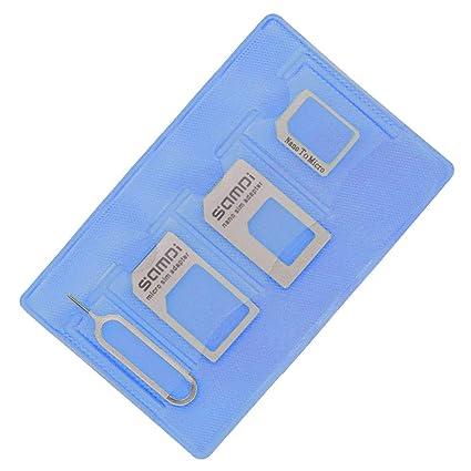 Amazon.com: Kit adaptador de tarjeta SIM, adaptador Nano a ...