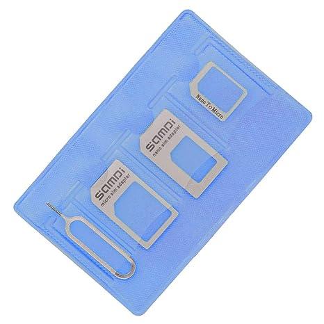 Kit adaptador de tarjeta SIM (Nano Micro estándar SIM Eject ...