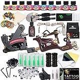 Dragonhawk Complete Tattoo Kit 2 Pro Machines Rotary Gun Power Supply 50 Needles 10 Immortal Inks...