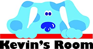 Personalized Name Custom Names Blues Clues Kids TV Show Wall Decals Decal Sticker Stickers / Blue Dog Dogs Cartoon Character Vinyl Decoration for Baby Babies Room Nursery Walls Size 20x20 inch