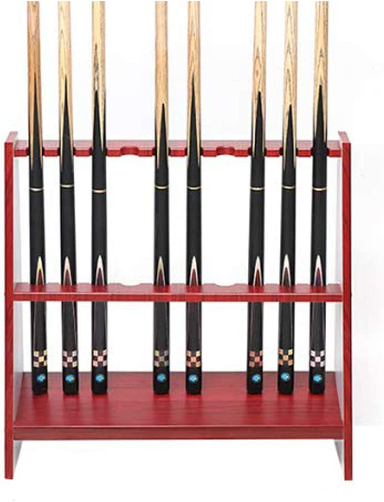 LWXTY Billar Stick Holder, Marco Vertical de Madera de 10 Agujeros ...