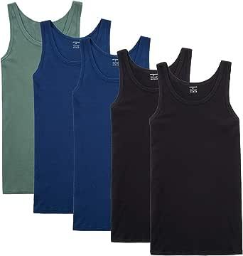 YOUCHAN Camiseta de Tirantes para Hombre Pack de 5 de Algodón 100% más Colores