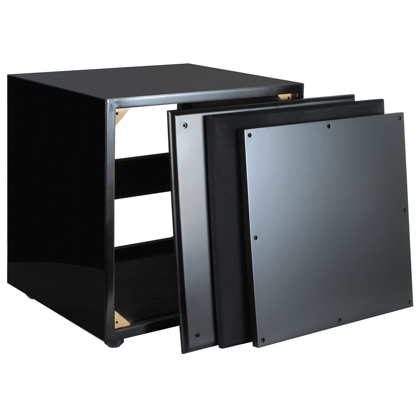Dayton Audio SWC1-BK 1.0 ft³ Subwoofer Cabinet Gloss Black