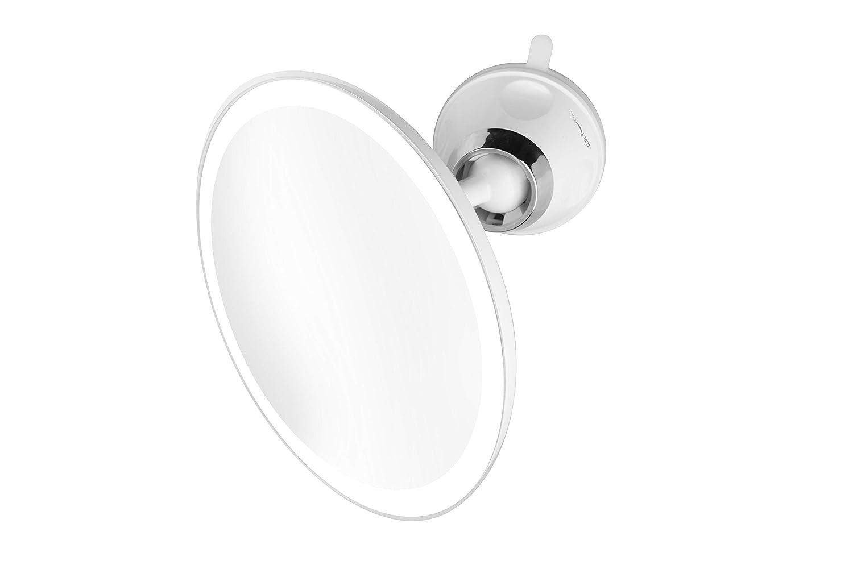 Medisana CM 850 - Kosmetikspiegel mit LED-Beleuchtung - Schminkspiegel mit starkem Saugnapf - 19 cm Durchmesser mit 5-facher Vergrößerung - Make-Up-Spiegel mit Tageslicht - 88558
