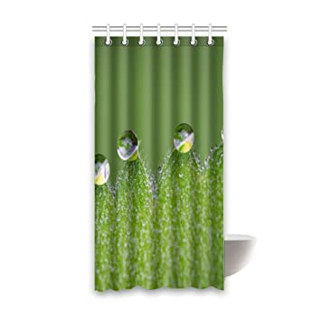 Raindrop Bathroom Shower Curtains Waterproof Curtain 36x72 Inches 100 Fabric Polyester