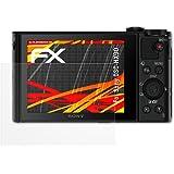 Sony DSC-HX90 Displayschutzfolie - 3 x atFoliX FX-Antireflex-HD hochauflösende entspiegelnde Schutzfolie Folie