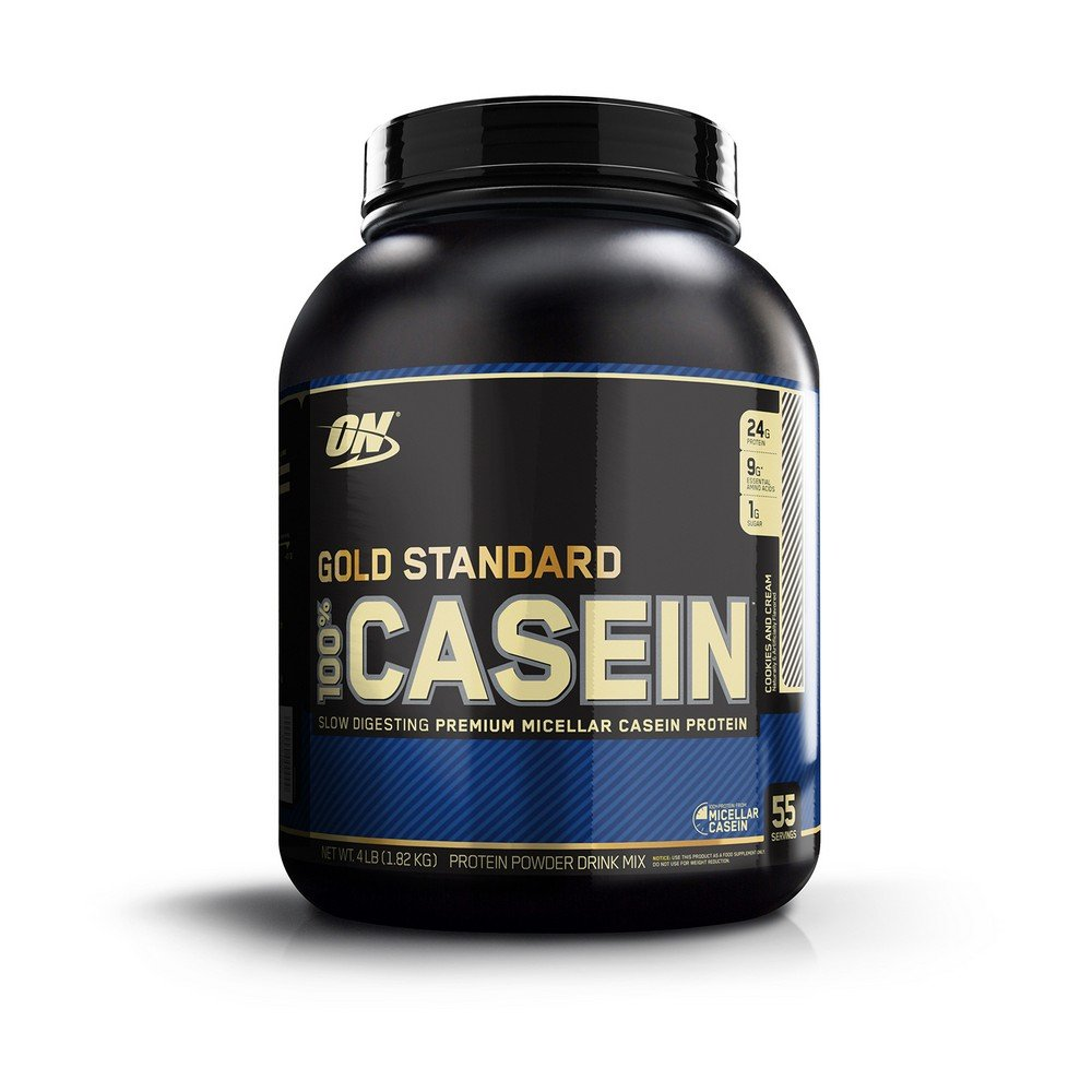 Optimum Nutrition Gold Standard 100% Micellar Casein Protein Powder, Slow Digtesting to Support Appetite Control, Overnight Muscle Recovery, Cookies and Cream, 4 Pound