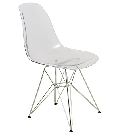 Amazon.com: leisuremod Cresco Eiffel Side Moderno Acrílico ...