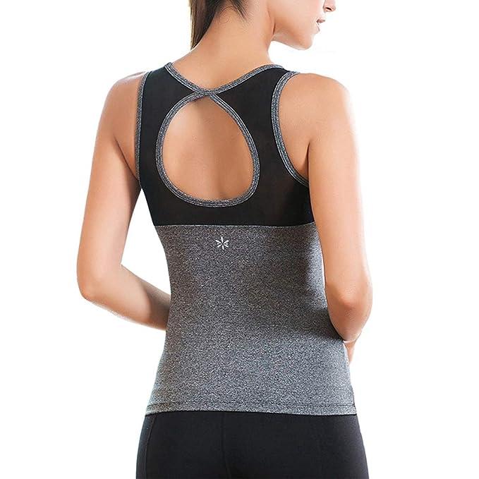 Amazon.com: Camiseta sin mangas para mujer con espalda ...