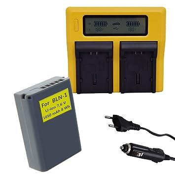 PATONA DUAL LCD Cargador + Bateria Olympus OM-D EM5 OM-D E ...
