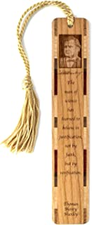 product image for Thomas Henry Huxley Science and Verification Quote with Portrait and Signature - Engraved Wooden Bookmark with Tassel